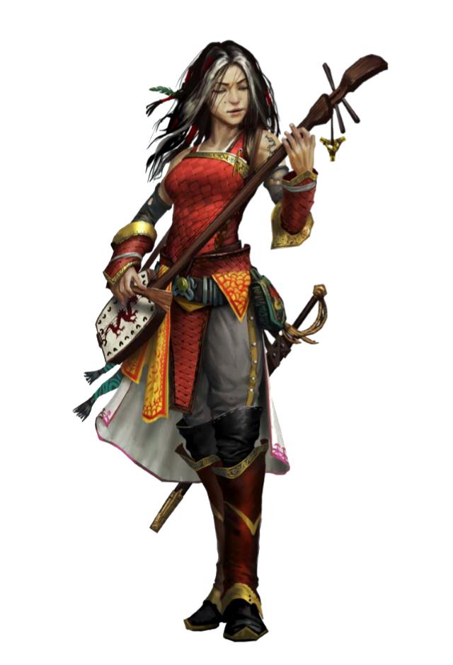 Female Human Bard Rogue - Ameiko Kaijitsu - Pathfinder PFRPG DND D&D