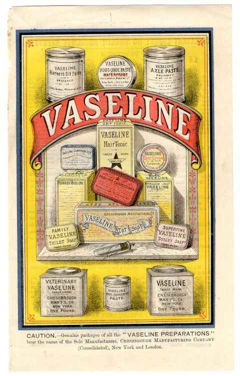 Victorian colour printed Vaseline advert (1885)»  | VINTAGE