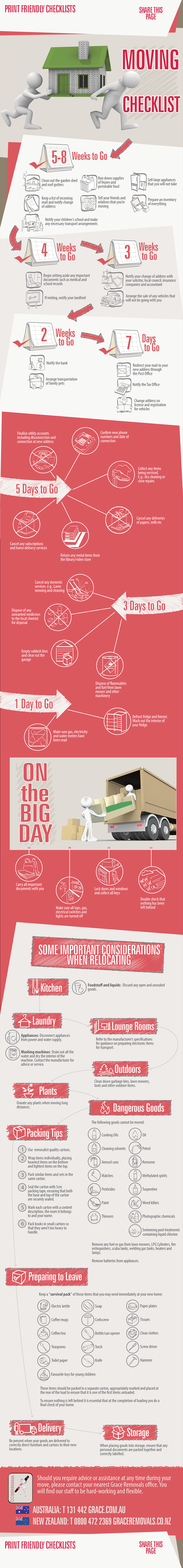 Moving Checklist Infographic  Tips To Help You Moveduring This