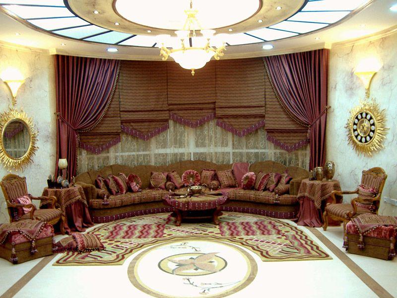 تصميم ديكورات مجالس ضيوف كلاسيك Arabian Decor Window Coverings Decor
