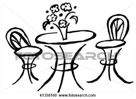 Bistro Table Clipart K1358160 Bistro Table Art Chair Art Clipart