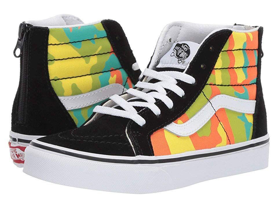 Vans Kids Sk8 Hi Zip (Little KidBig Kid) Boys Shoes (pop