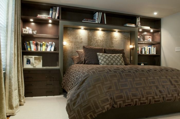 Shelving Is So Important In Utilizing A Small Space Looks Great Small Modern Bedroom Modern Bedroom Bedroom Design