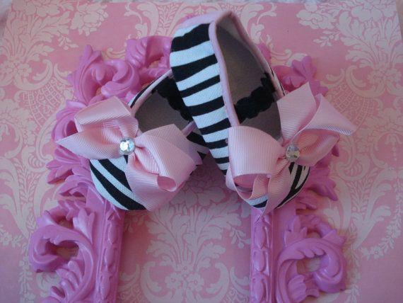 Zebra Baby Shoes, zebra nursery by MammaMyaBoutique on Etsy, $12.99