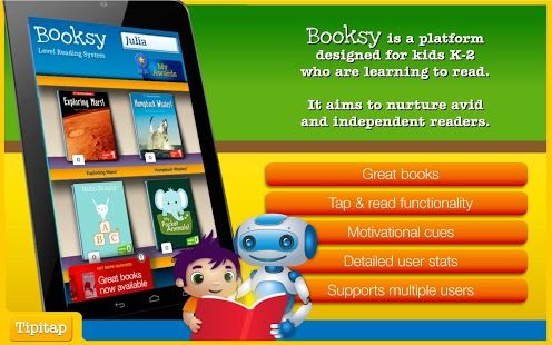 Booksy learn to read platform (0.00 for first 2 books