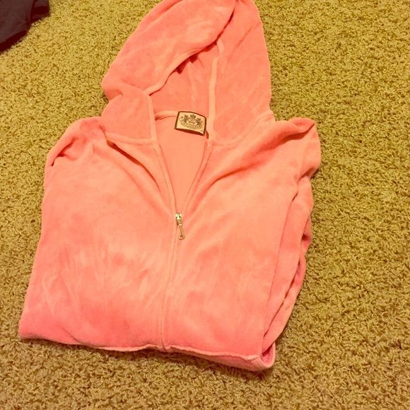 Pink Juicy Couture jacket Pink zip up with hood Juicy Couture Sweaters