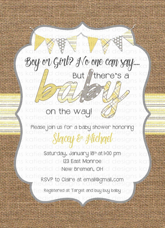 20 Unisex Baby Shower Invitations Baby Shower Invites Neutral Gender Neutral Baby Shower Invitations Unisex Baby Shower