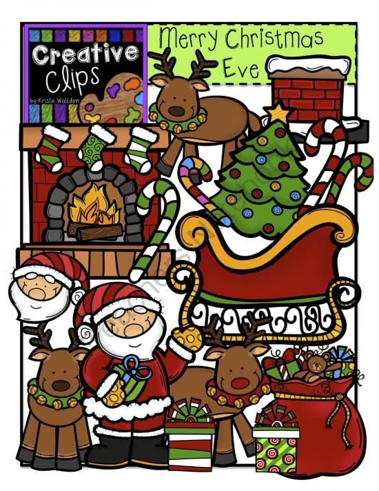 merry christmas eve creative clips digital clipart from creative clips clipart on teachersnotebookcom - Christmas Eve Clipart