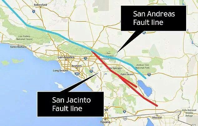 Coinciding Fault Lines? | EARTHLY NEWS | San,reas fault, Earthquake ...