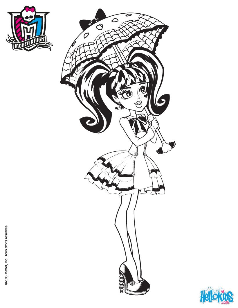 Draculaura Doll Coloring Page I Love This Coloring Page