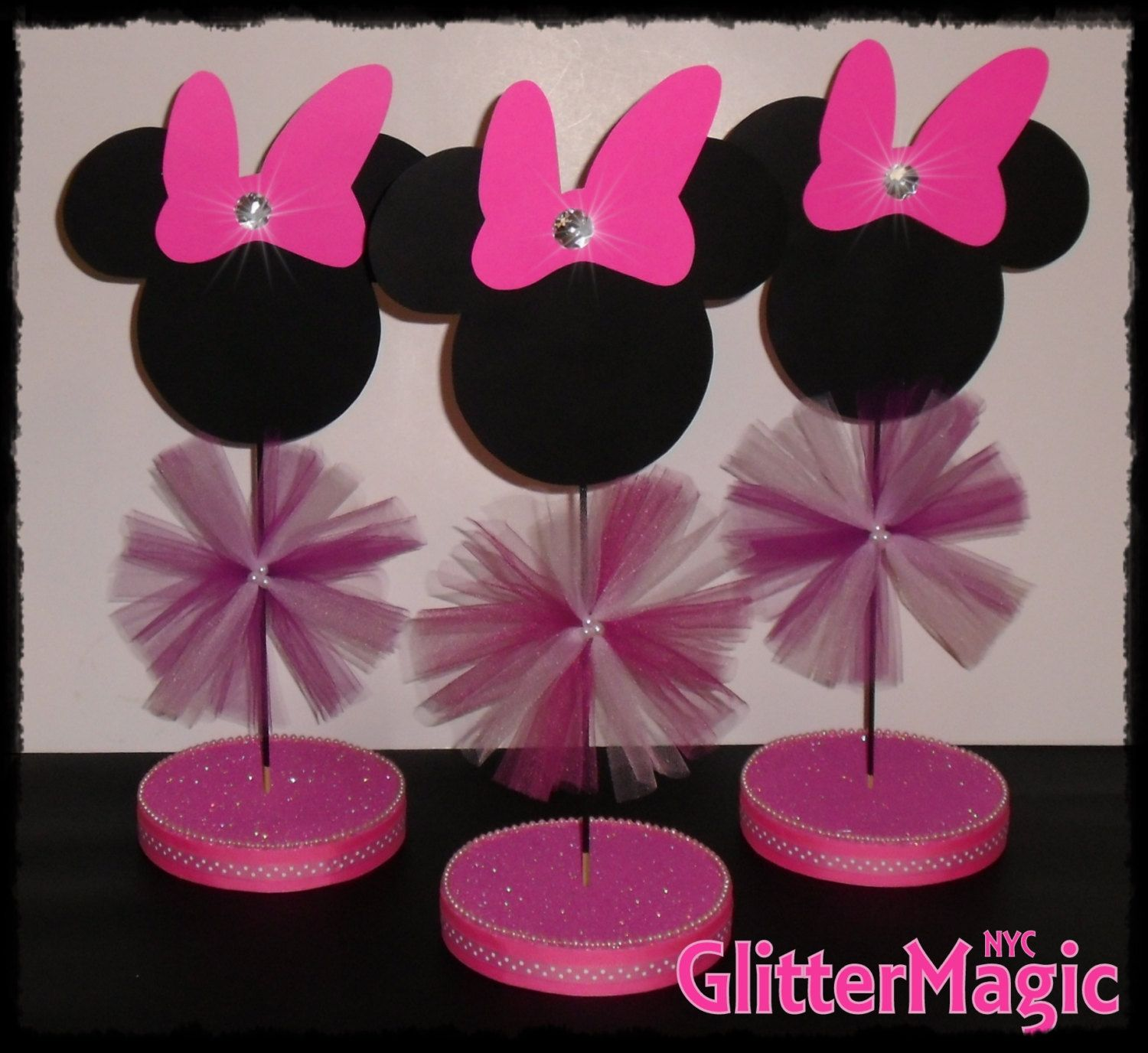 1 minnie mouse centerpiece minnie mouse by glittermagic23s