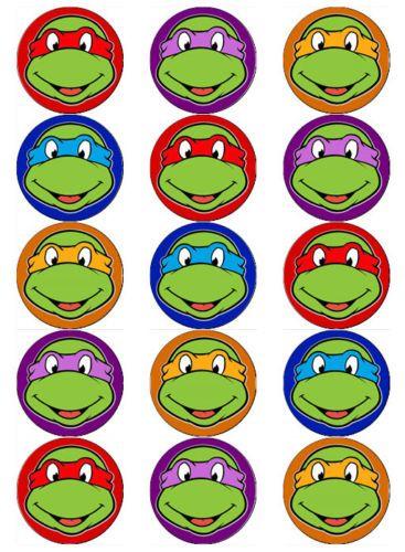 Teenage Mutant Ninja Turtles Faces V2 Tmnt Edible Wafer