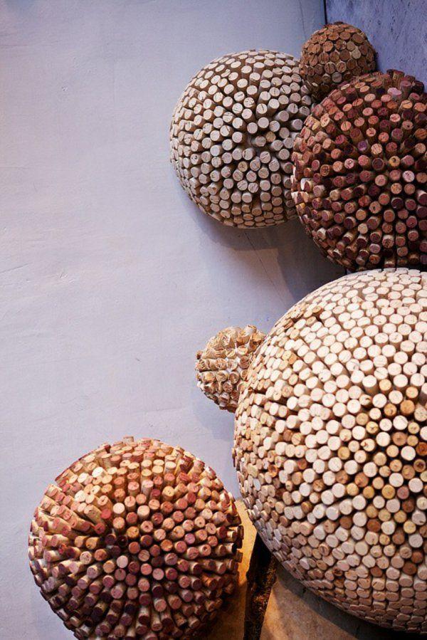 Basteln originell massiv korken kugel deko basteln for Kugel laterne basteln