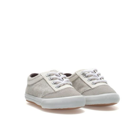 75aba2dcbfbe Basic striped plimsoll - Shoes - Baby boy - Kids - ZARA United States