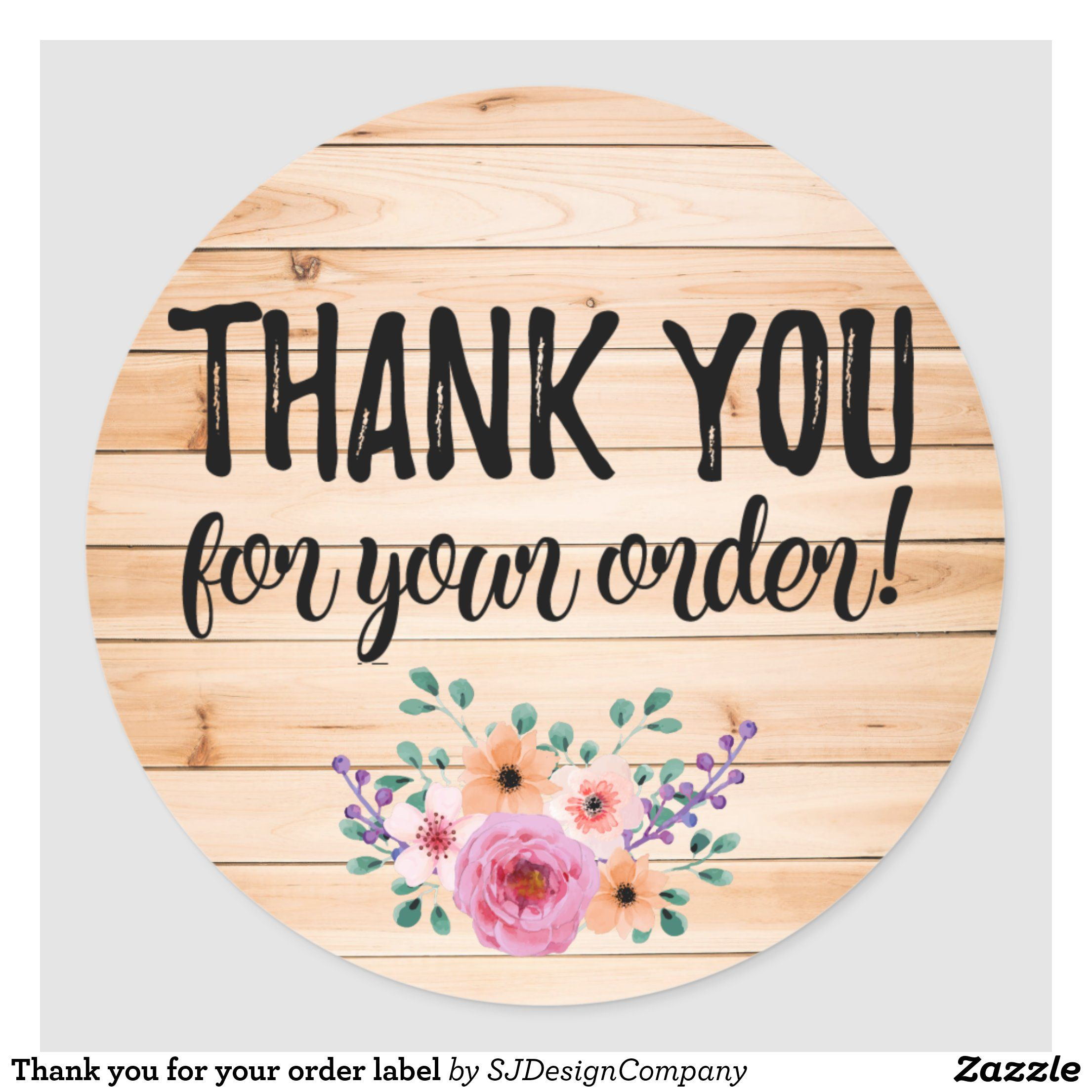 Thank you for your order label in 2020 Logo