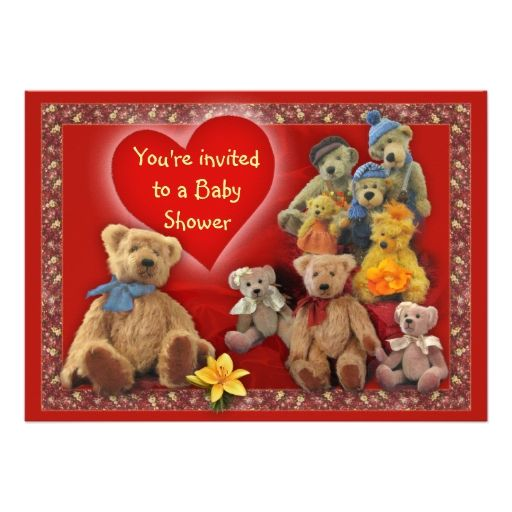TeddyBears BabyShower Invite