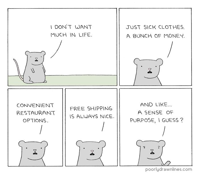 Poorly Drawn Lines All I Need Funny Memes Funny Comics Comics