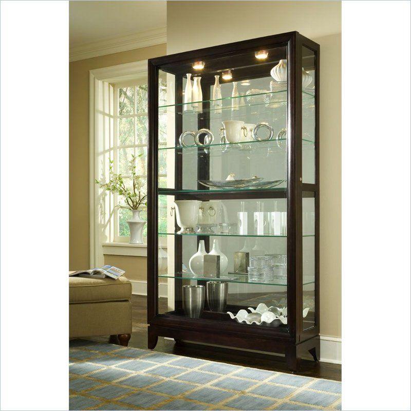 Cheap Discount Furniture Online: Pulaski Chocolate Cherry 46 Inch Wide Curio Cabinet