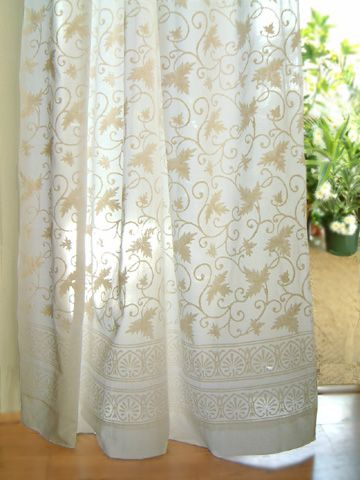 Cotton Sheer Curtain Panels - Rooms