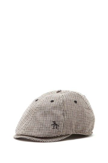 Houndstooth Beanie - Grey Original Penguin zzu3u