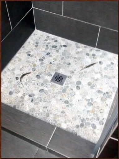 King Salmon Fish Tiles Sliced Pebble Shower Floor