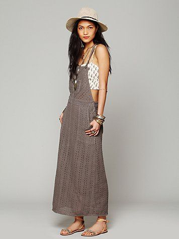 Making a dress out of overalls (Free People Inspiration).