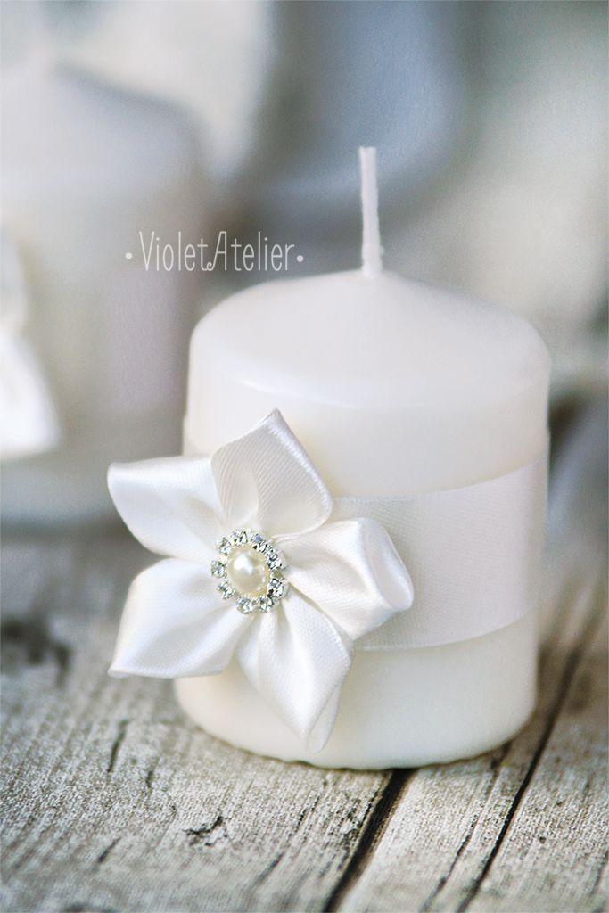 Candle Favor Wedding Favors Handmade Flower Candle Wedding Favors