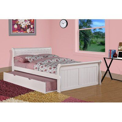 Sleigh Bed with Twin Trundle Size: Full (bestseller) | House stuff ...