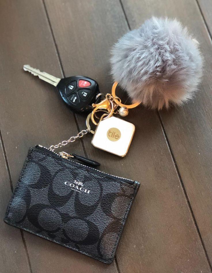 Pom Pom Puff Rabbit Fox Faux Fur Ball Car Keychain Key Chain with Golden Keyring Chain