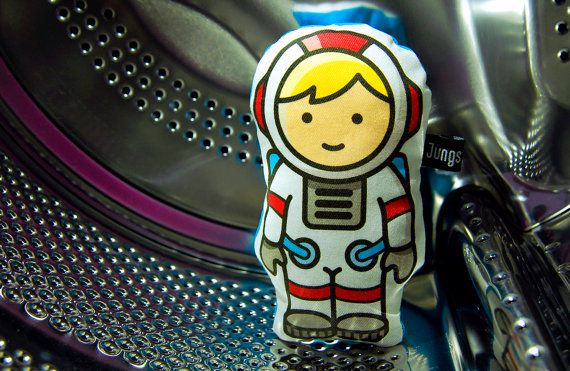 The cuddly astronaut from Boys & Sons. Soft stuffed.