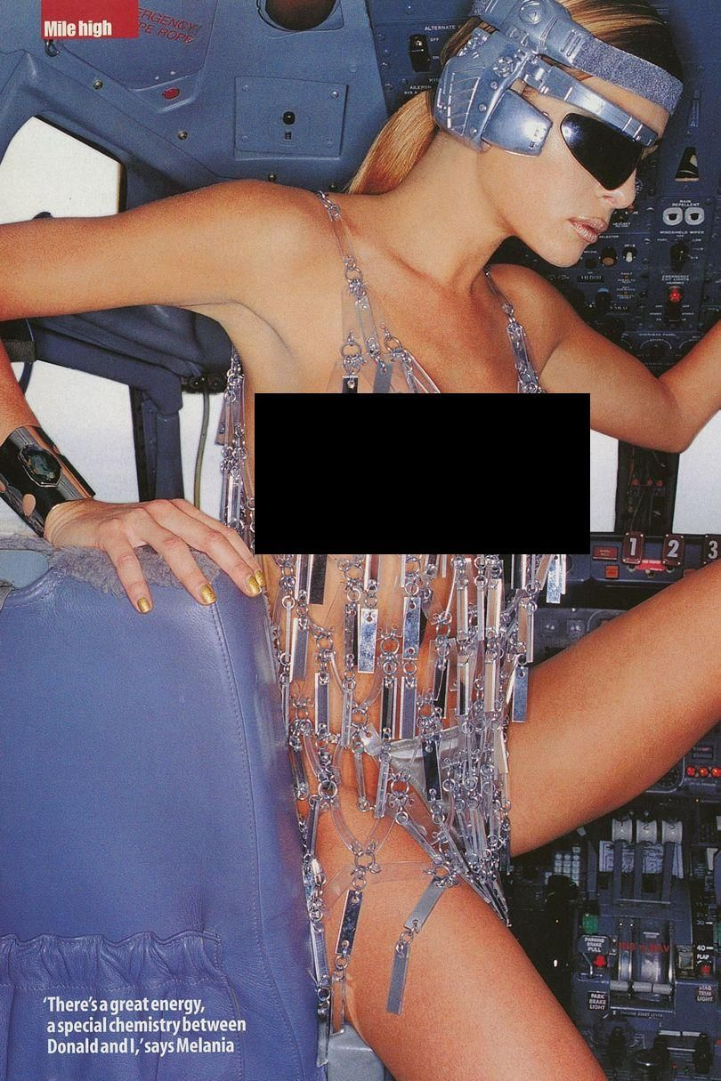 Donald Trumps Third Wife Melania Trump Posed Nude And -2885