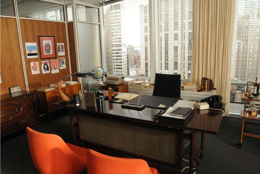 La fresquera series mad men oficina despachos for Muebles de oficina vintage