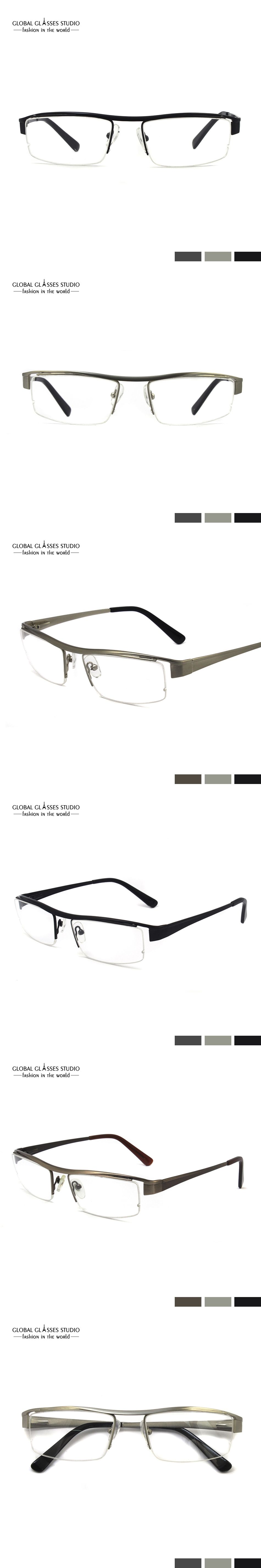 New Fashion Men Simple Frame Glasses design Metal Stainless Steel ...