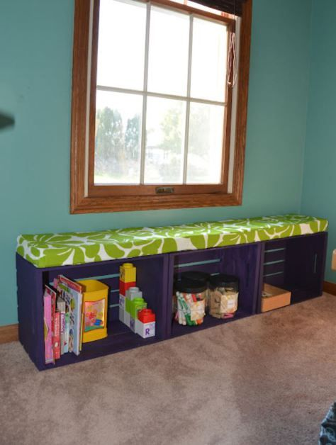 16 Crafty Home Projects With Crates Homelysmart Diy Wooden Crate Crate Bench Crate Furniture