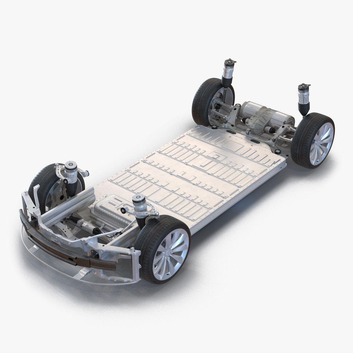 3D Tesla S Chassis Modeled - 3D Model | Tesla model s ...