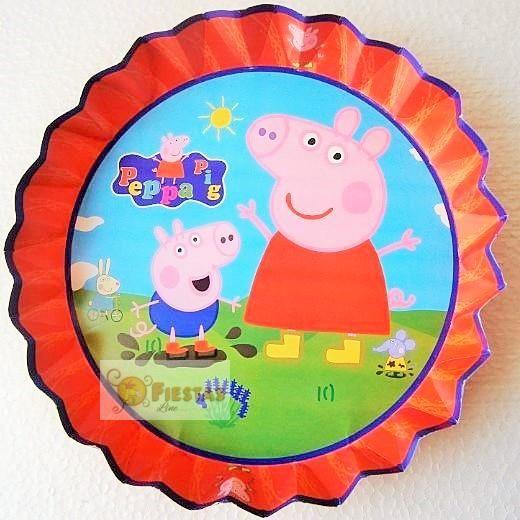 Fuente de carton de Peppa Pig.Paquete por 8 unidades.