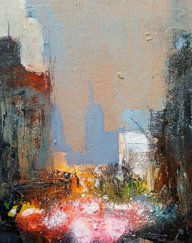 New York Abstract Streets 4 - new certificate of authenticity painting
