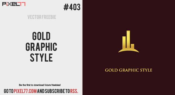 Todays Freebie Is A Gold Graphic Style Feel Free To Use It In Commercial And