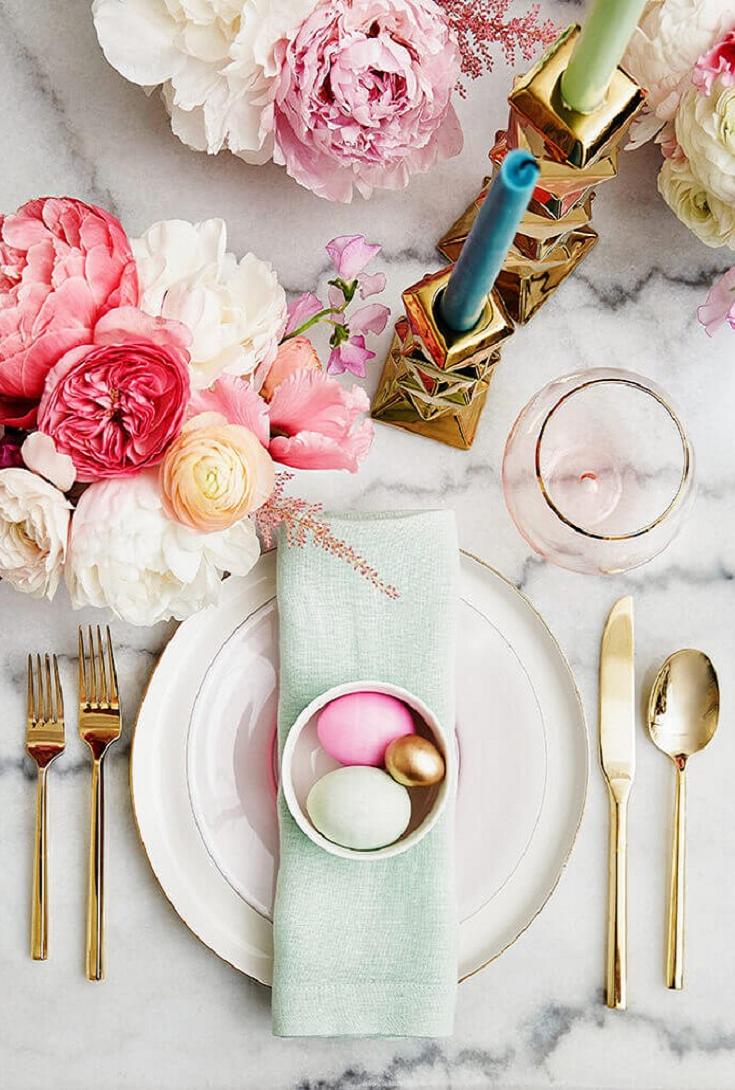 Easter table My Pastel Easter Brunch