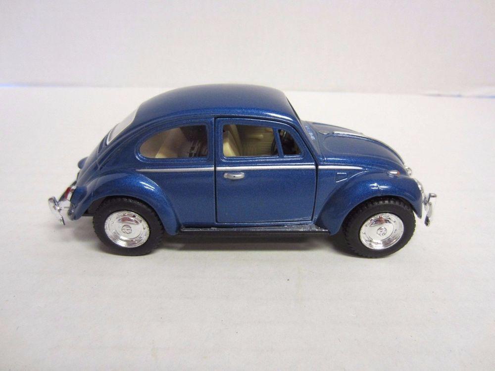 Volkswagen Classical Beetle 1967 Die Cast Car Blue 1 32 Kinsmart Diecast Volkswagen Car