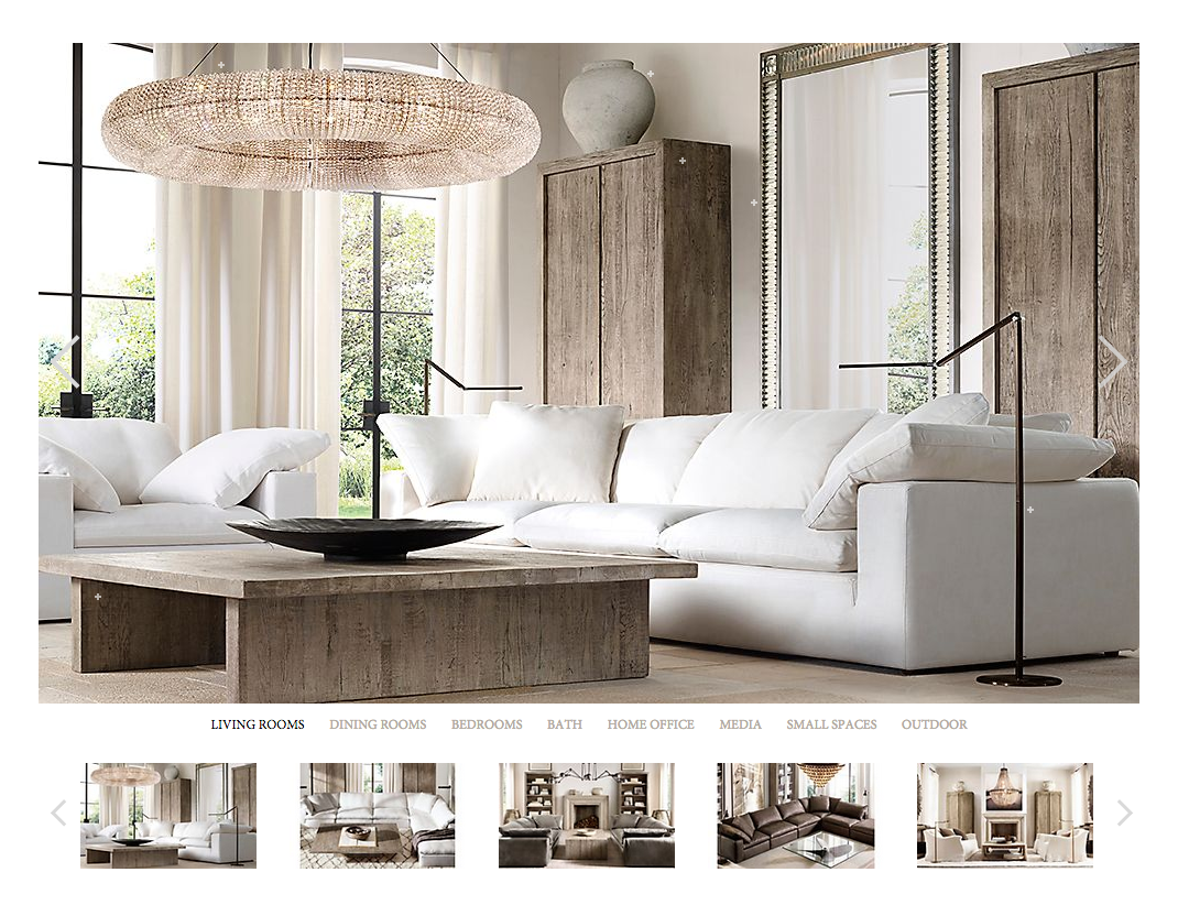 Love Coffee Table U0026 Crystal Halo Chandelier And Everything Else About This  Room, All From Restoration Hardware Part 3