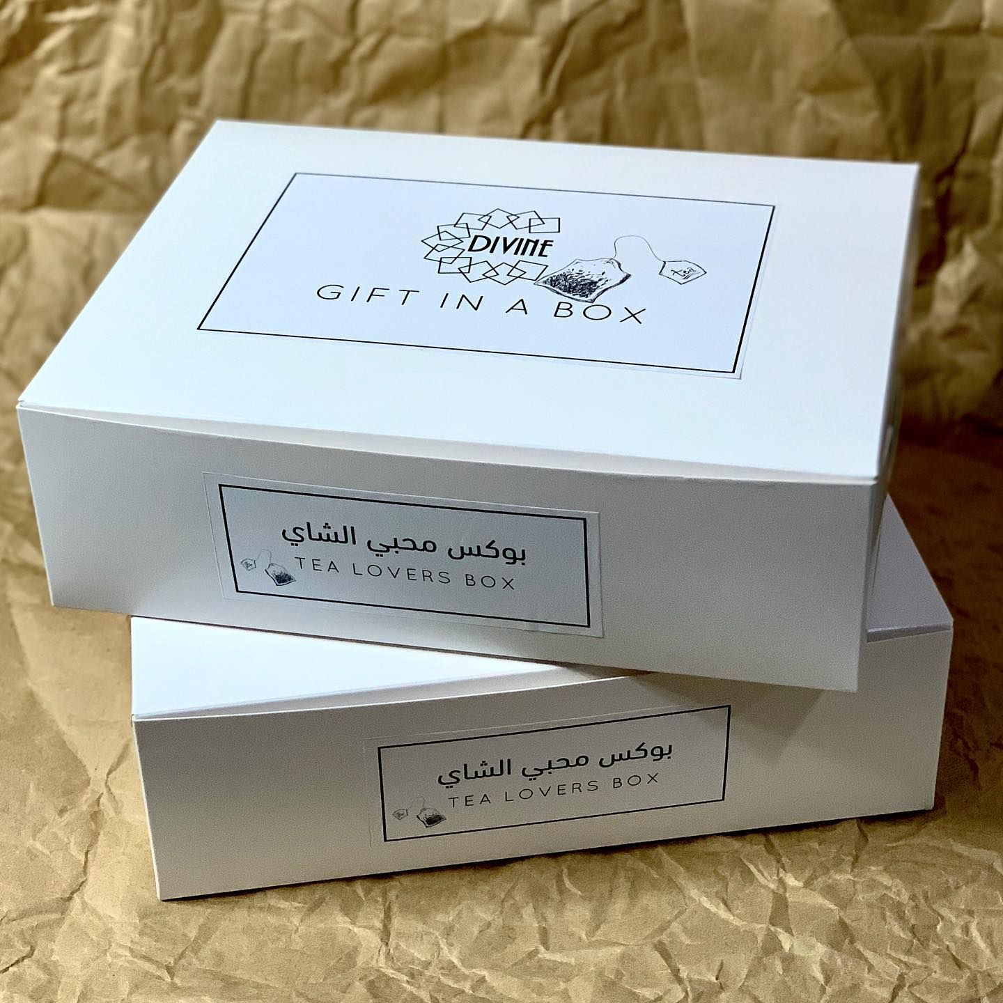 Hello Everyone We Are Back With Beautiful Gift Boxes We Collaborated With Two Amazing Businesses Mosaichousebahrain P Tea Lover Place Card Holders Tea