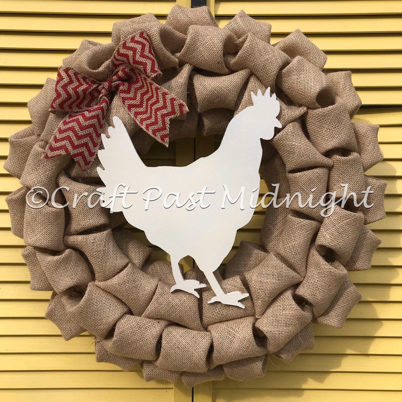 Country  Hen Wreath