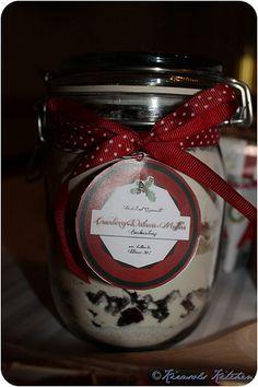 Cranberry walnuss Backmischung im Glas (1l)