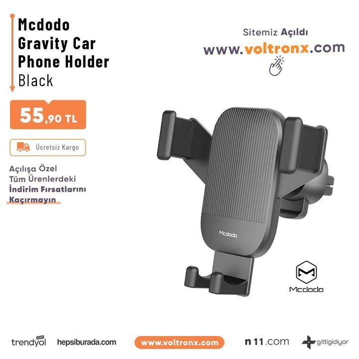 Orjinal Adınıza Faturalı Mcdodo Gravity Car Phone Holder Black    Orjinal Adınıza Faturalı Mc