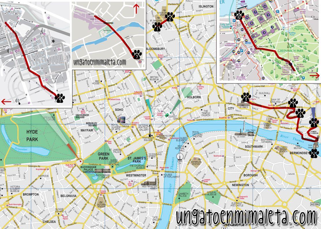 londres ruta mapa