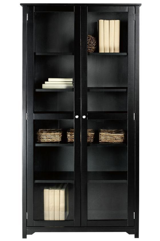 Oxford 36w 6 Shelf Bookcase With Glass Doors Bookcase
