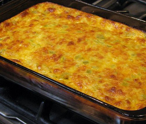 One of my favorite breakfast or brunch egg dishes is this Green Chile Egg Souffle. I often serve this for Christmas or New Year's Day brunch with baked french toast and fresh fruit. Yum! This rec...