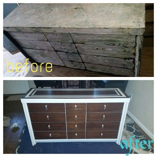 Mid century modern makeover,  dresser makeover,  painted dresser,  decorative, stripes,  stain and paint.