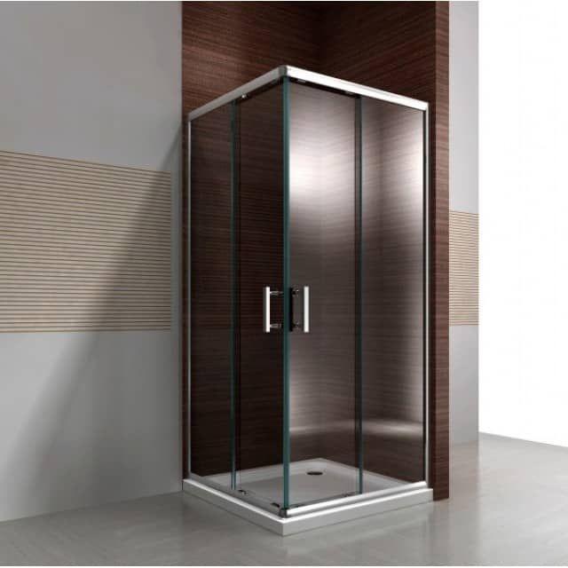 Paroi de douche du0027angle,porte coulissante en verre véritable NANO - roulement de porte coulissante